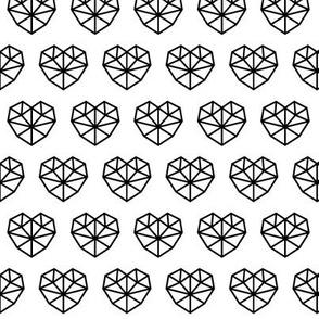 facet hearts 2 » black + white no.3