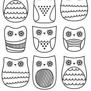 bright eyed owls » black + white no.3