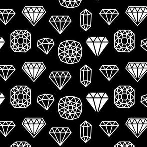 diamond mix reversed » black + white no.3