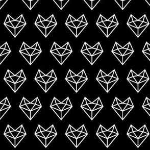 facet fox head reversed » black + white no.3