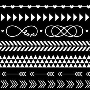 tribal infinity mix reversed » black + white no.3