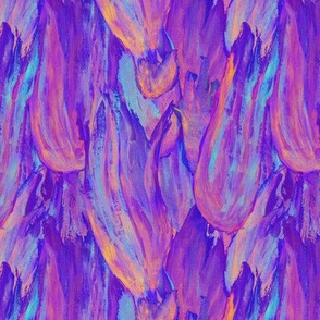 Blue and Violet Flames
