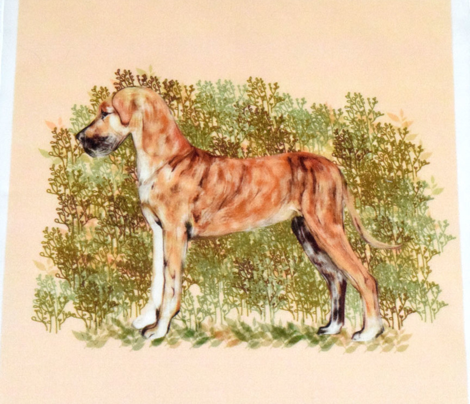 Brindle Great Dane for Pillow