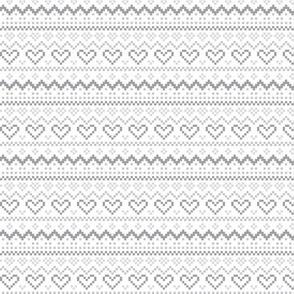 knitted grey no.1 fair isle