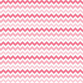 knitted pink no.2 chevron