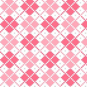 knitted pink no.4 LG argyle