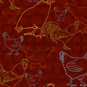 Keepsake Country Chickens