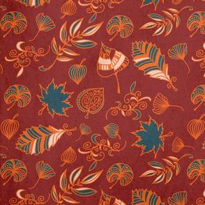 Vintage autumn rust