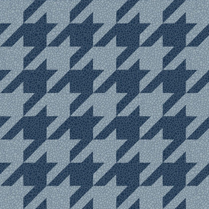 houndstooth - faded blue