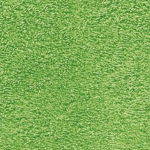 faux terry cloth towel in grass green