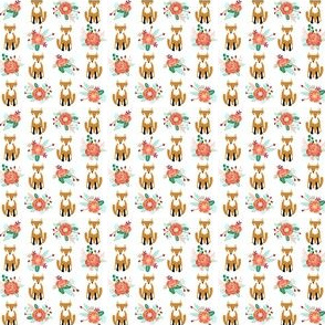 autumn fox flowers cream autumn fall girls sweet woodland fall girl