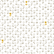 Little tulips in silver and gold