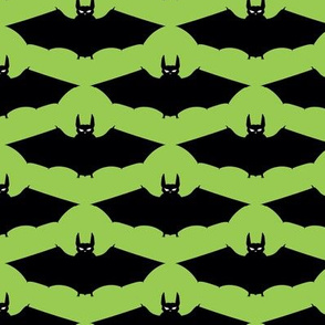 bats, cats, and spiders! green