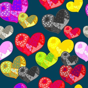 Patсwork hearts