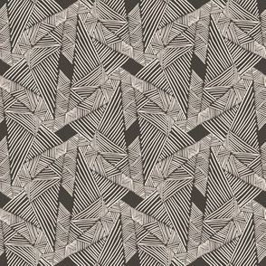 Mudcloth Triangle Geometry (small, mud)