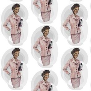 Vintage Lady African American Black Lady in Pink