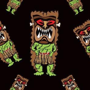 Zombie Tiki Warriors in Midnight Black