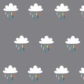 Coloured rain clouds