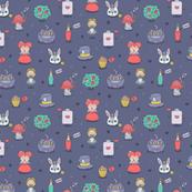 Alice in wonderland pattern