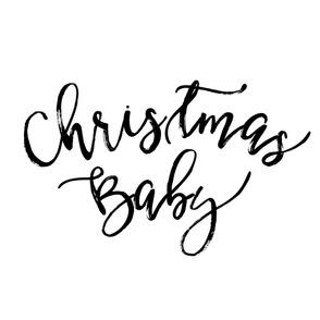 Christmas Baby Black/White Baby Blanket
