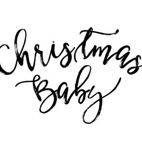 Christmas Baby Black/White Lovey