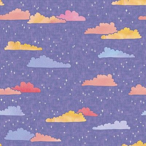 A Wish on Clouds and Stars -Lilac