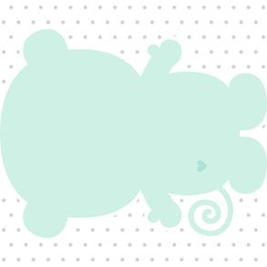 monkey mint back mod baby » plush + pillows // one yard