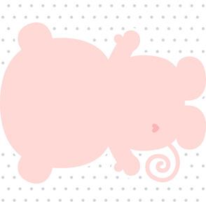 monkey coral back mod baby » plush + pillows // one yard