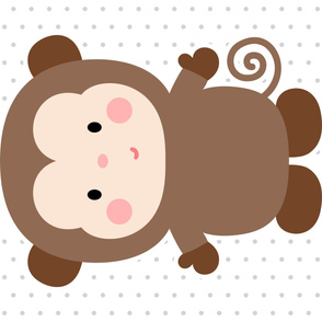 monkey brown front mod baby » plush + pillows // one yard