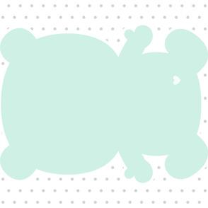 bear mint back mod baby » plush + pillows // one yard