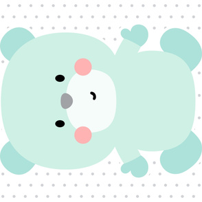 bear mint front mod baby » plush + pillows // one yard