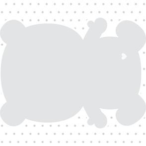 bear grey back mod baby » plush + pillows // one yard