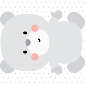 bear grey front mod baby » plush + pillows // one yard