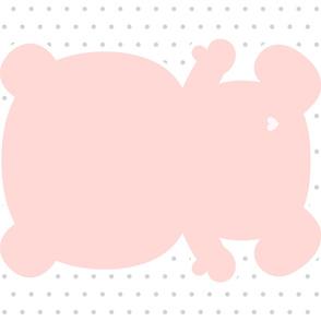 bear coral back mod baby » plush + pillows // one yard