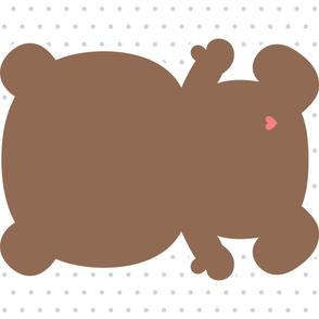 bear brown back mod baby » plush + pillows // one yard