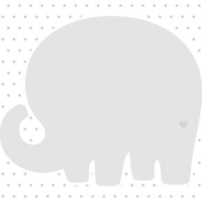 elephant grey back mod baby » plush + pillows // one yard