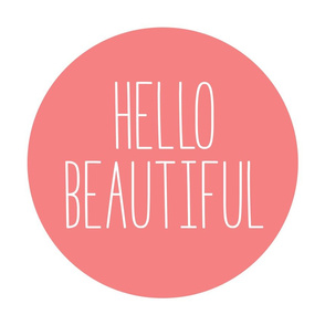 hello beautiful coral mod baby » plush + pillows // fat quarter