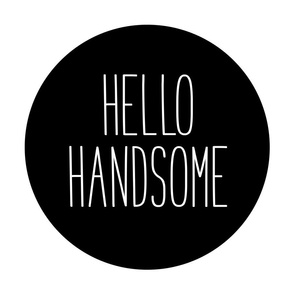 hello handsome black mod baby » plush + pillows // fat quarter