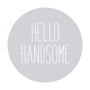 hello handsome grey mod baby » plush + pillows // fat quarter