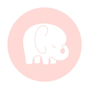 sleepy elephant coral light mod baby » plush + pillows // fat quarter
