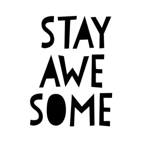 stay awesome black mod baby » plush + pillows // fat quarter