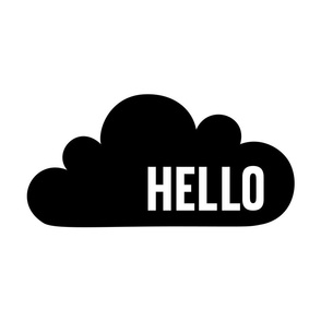 hello cloud black mod baby » plush + pillows // fat quarter