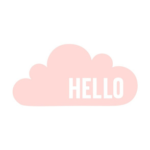 hello cloud coral light mod baby » plush + pillows // fat quarter