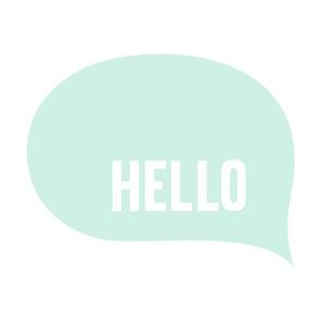 hello speech bubble mint light mod baby » plush + pillows // fat quarter