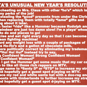 Santa's New Years Resolutions