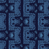 Whimsical Wayward Stripe - Blue on Blue