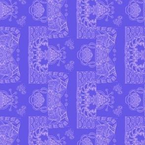 Whimsical Wayward Stripe - Lavender on Blue