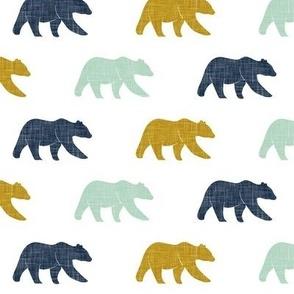 multi bear (small scale) || navy mustard mint