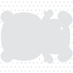 bear grey back mod baby » plush + pillows // fat quarter