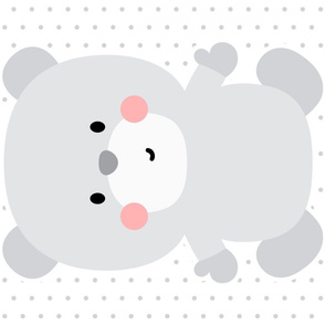bear grey front mod baby » plush + pillows // fat quarter